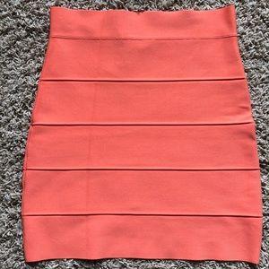 BCBG Simone Bandage Skirt Peach S